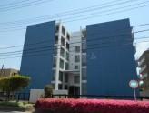 外観タイル貼りの鉄筋コンクリート造マンション